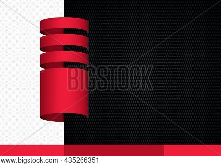 Abstract Graphic Background With Red Elements For A Website, Visiting Card, Flyer Or Other Designs -