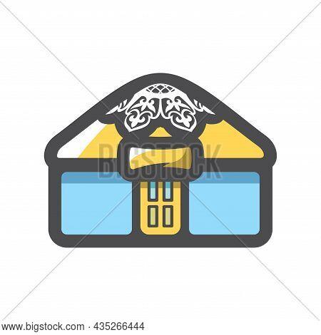 Yurt House Of Asian Nomads Vector Icon Cartoon Illustration