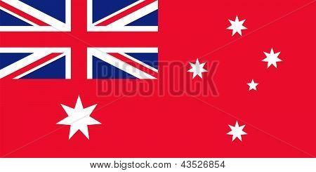 Flag Of Australia Red.