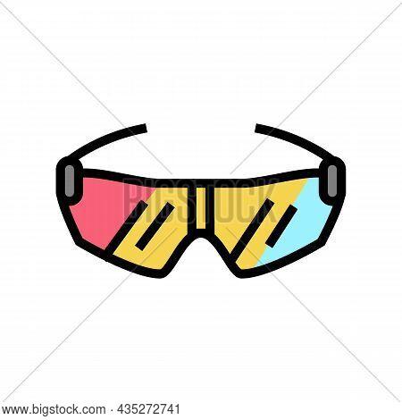 Glasses Cyclist Accessory Color Icon Vector. Glasses Cyclist Accessory Sign. Isolated Symbol Illustr