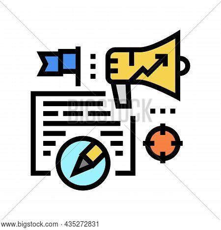 Content Marketing Copywriting Color Icon Vector. Content Marketing Copywriting Sign. Isolated Symbol
