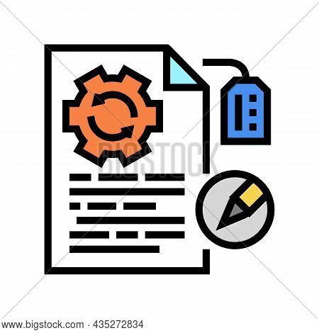 Brand Development Copywriting Color Icon Vector. Brand Development Copywriting Sign. Isolated Symbol