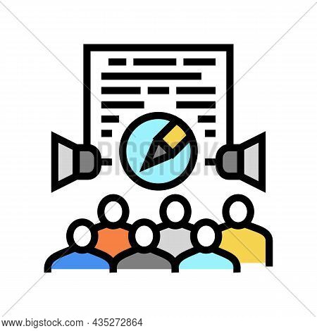 Public Relations Copywriting Color Icon Vector. Public Relations Copywriting Sign. Isolated Symbol I