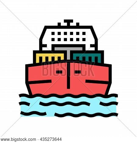 Sea Freight Delivery Color Icon Vector. Sea Freight Delivery Sign. Isolated Symbol Illustration