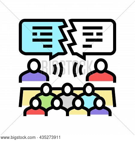 Debate Candidates Color Icon Vector. Debate Candidates Sign. Isolated Symbol Illustration