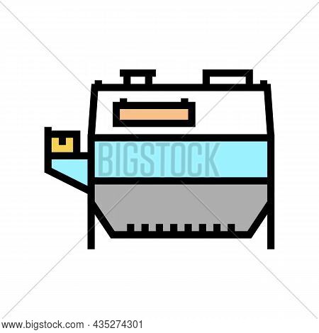 Wheat Grain Cleaning Machine Color Icon Vector. Wheat Grain Cleaning Machine Sign. Isolated Symbol I