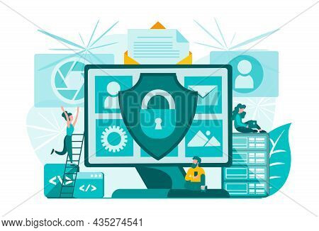 Information Security In Social Networks And Internet Applications. Data Protection. System Privacy.