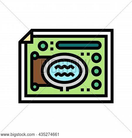 Landscape Design Plan Color Icon Vector. Landscape Design Plan Sign. Isolated Symbol Illustration