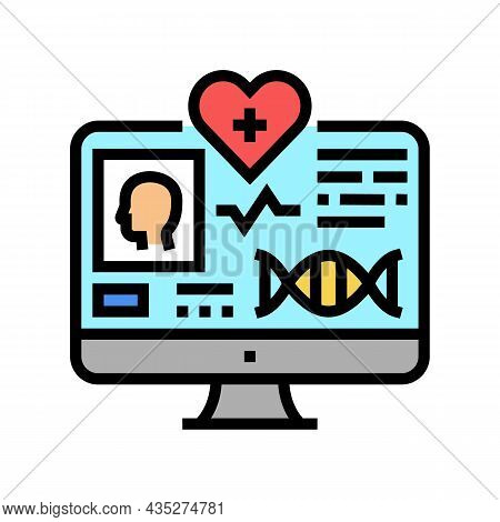 Telehealth Researching Color Icon Vector. Telehealth Researching Sign. Isolated Symbol Illustration