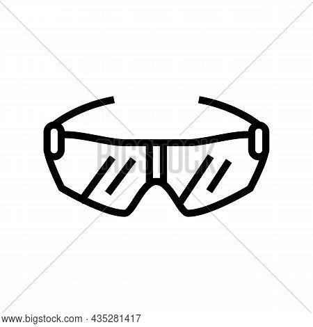 Glasses Cyclist Accessory Line Icon Vector. Glasses Cyclist Accessory Sign. Isolated Contour Symbol