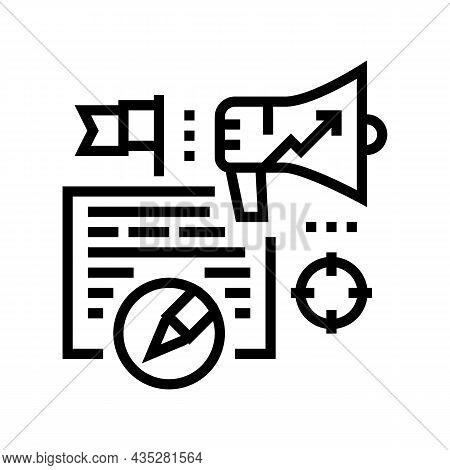 Content Marketing Copywriting Line Icon Vector. Content Marketing Copywriting Sign. Isolated Contour