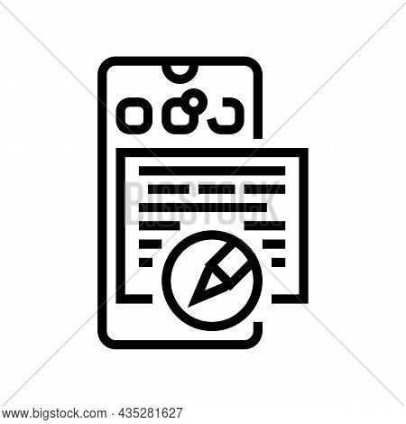 Social Media Copywriting Line Icon Vector. Social Media Copywriting Sign. Isolated Contour Symbol Bl