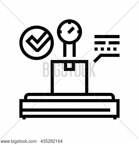 Postal Scale Line Icon Vector. Postal Scale Sign. Isolated Contour Symbol Black Illustration