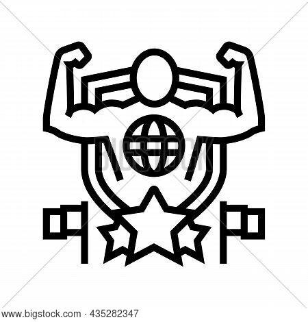 Patriotism Citizen Line Icon Vector. Patriotism Citizen Sign. Isolated Contour Symbol Black Illustra