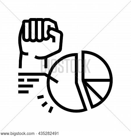 Majority Rule Line Icon Vector. Majority Rule Sign. Isolated Contour Symbol Black Illustration