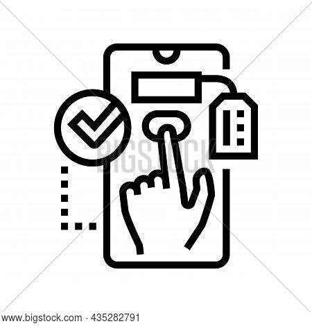 Choosing Product Line Icon Vector. Choosing Product Sign. Isolated Contour Symbol Black Illustration