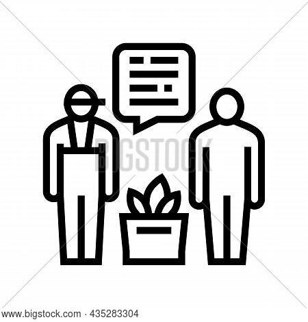 Personal Shopper Line Icon Vector. Personal Shopper Sign. Isolated Contour Symbol Black Illustration