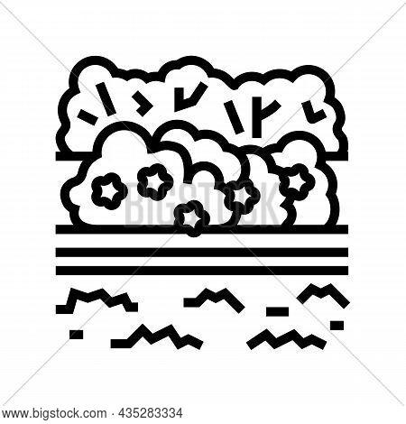 Landscape Install Line Icon Vector. Landscape Install Sign. Isolated Contour Symbol Black Illustrati