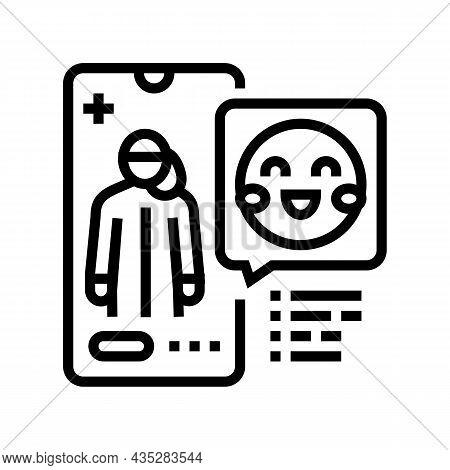 Pediatrician Consultation Line Icon Vector. Pediatrician Consultation Sign. Isolated Contour Symbol