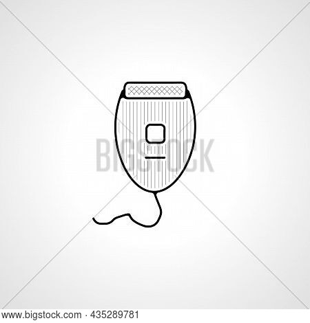Electric Shaver Vector Thin Line Icon. Electric Shaver Hand Drawn Thin Line Icon.