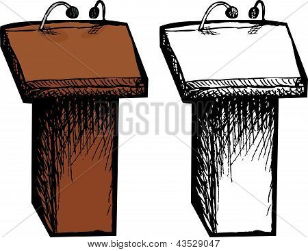 Isolated Lectern