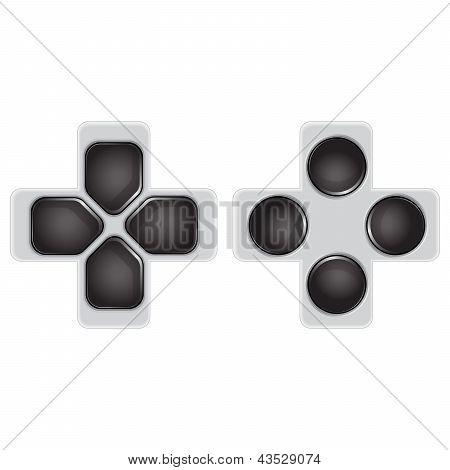 Black Joystick Buttons