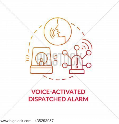 Voice Activated Dispatched Alarm Blue Gradient Concept Icon. Alarm System Abstract Idea Thin Line Il