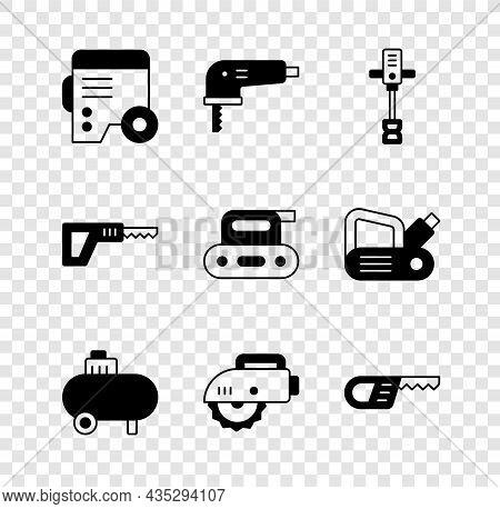 Set Power Electric Generator, Electric Jigsaw, Electrical Hand Concrete Mixer, Air Compressor, Circu