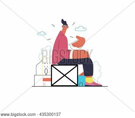 Startup Illustration. Concept Of Building New Business