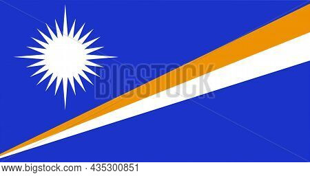 The National Flag Of Marshall Islands Is An Island In The Central Pacific Ocean