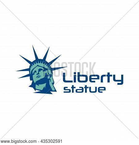 Landmark New York City, Statue Logo Design Vector Illustration