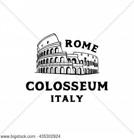 Vector Logo Of The City Of Rome, Italy  Logo Design Vector Illustration