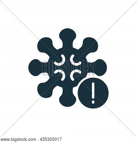 Warning Corona Virus Sign. Alert And Danger Of Corona Virus Silhouette Icon. Pandemic Coronavirus Ou