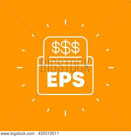 Eps, Earnings Per Share, Financial Outline Icon