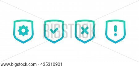 Privacy Protection Control Icons Set On White