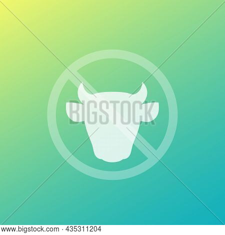 No Milk And Lactose Sign With Cow