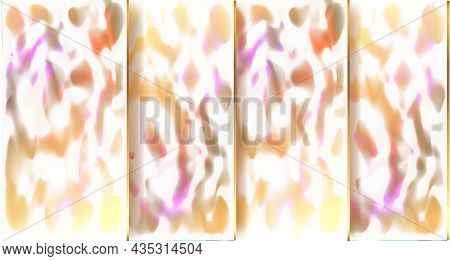 Abstract Cover. Golden Shades. Marble. Stone Tiles. Violet, White And Yellow Colors. Shiny Cover. Ve