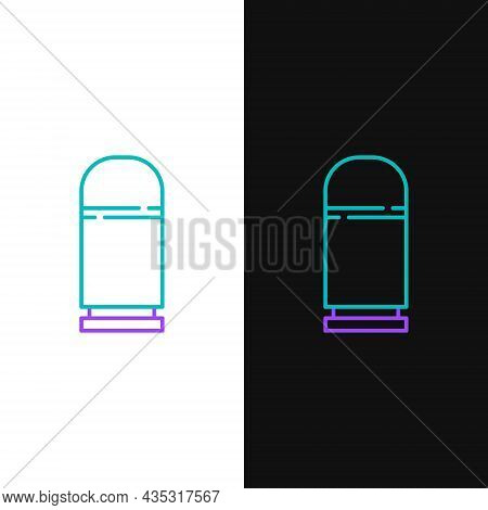 Line Cartridges Icon Isolated On White And Black Background. Shotgun Hunting Firearms Cartridge. Hun