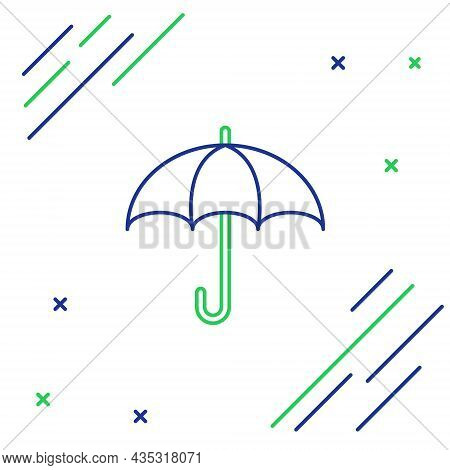 Line Umbrella Icon Isolated On White Background. Insurance Concept. Waterproof Icon. Protection, Saf