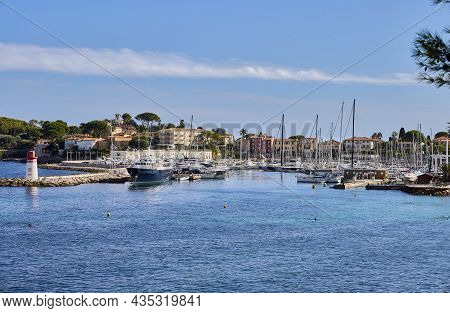 Panoramic View Of Cap Ferrat (france). It Is A French Commune In The Department Of The Alpes-maritim