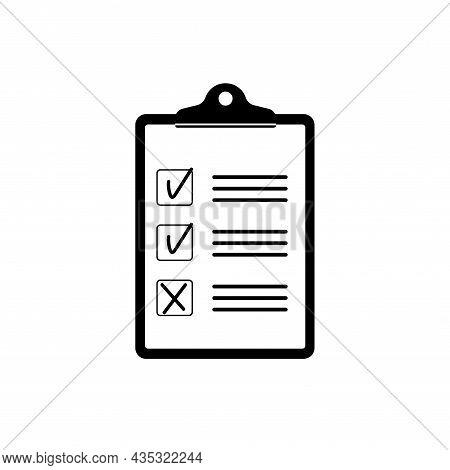 Clipboard Icon. Document, File, Report Test Checklist. Check Mark Symbol. Checkmark Sign. Tick Icon.