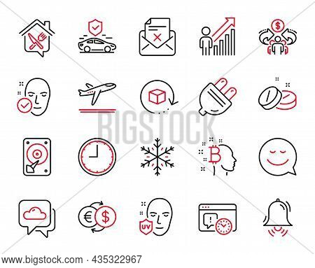 Vector Set Of Business Icons Related To Weather Forecast, Smile And Return Package Icons. Reject Let