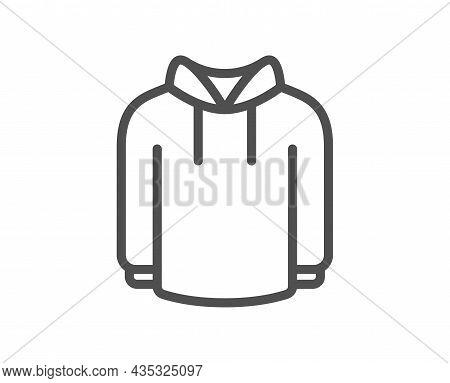 Hoody Line Icon. Hoodie Wear Sign. Hooded Sweatshirt Symbol. Quality Design Element. Line Style Hood