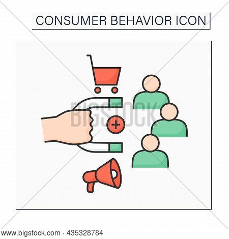 Consumer Retention Color Icon. Increase Numbers Of Repeat Customers. Engaging Customers To Continue