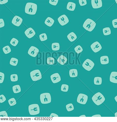 Green Fragile Broken Glass Symbol For Delivery Boxes Icon Isolated Seamless Pattern On Green Backgro