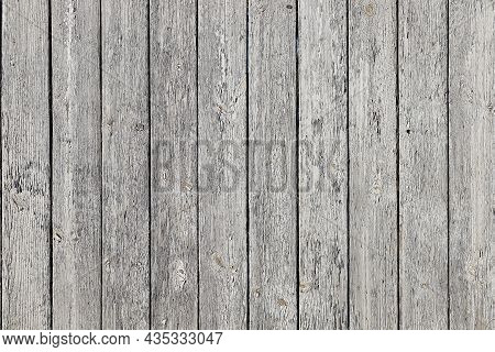 Old Wooden Background Of Boards With Shabby Flake Gray Paint