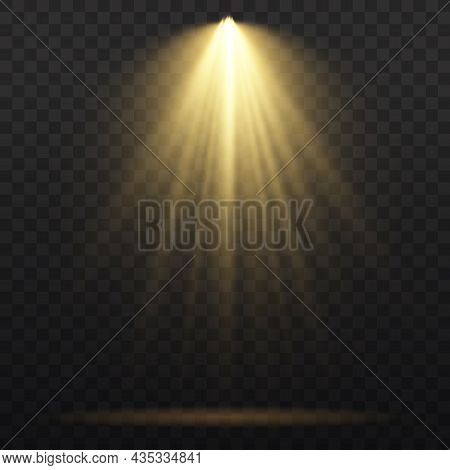 Spotlight Projector, Light Effect With Yellow Rays