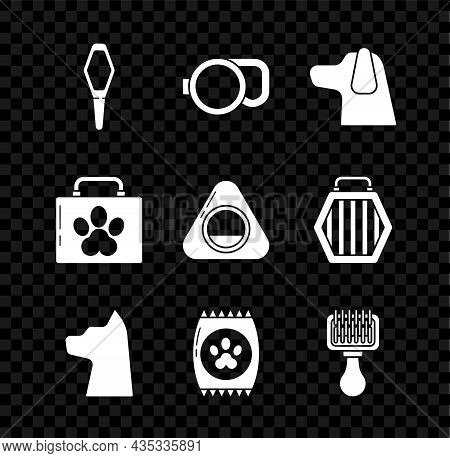Set Pets Vial Medical, Retractable Cord Leash, Dog, Cat, Bag Of Food For Pet, Hair Brush Dog And Cat