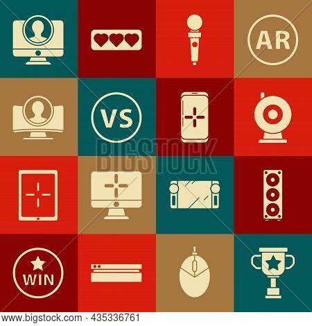 Set Award Cup, Stereo Speaker, Web Camera, Joystick For Arcade Machine, Vs Versus Battle, Create Acc