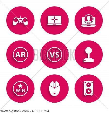Set Vs Versus Battle, Computer Mouse Gaming, Stereo Speaker, Joystick For Arcade Machine, Medal, Ar,